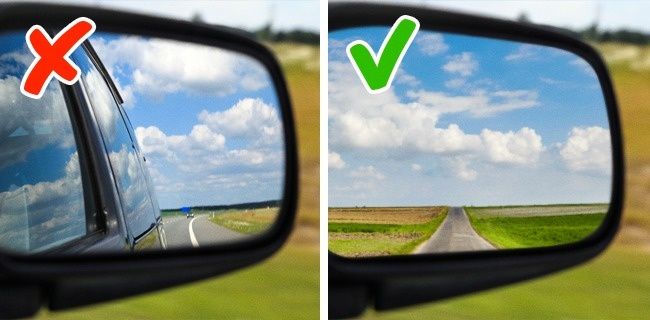 Check if all your mirrors are adjusted correctly